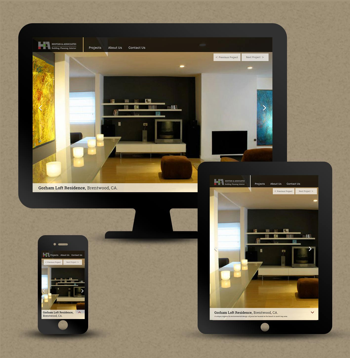 project responsive page